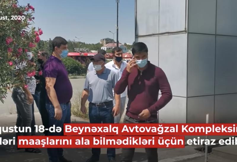 Beynəlxalq Avtovağzalın işçiləri əmək haqqı tələb edir